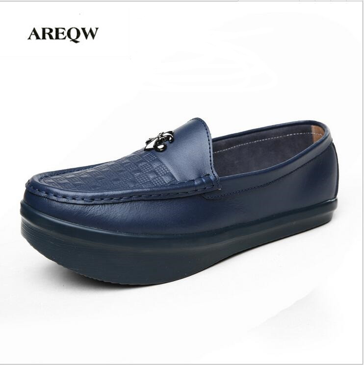 AREQW 2017 Spring new Leather shoes men K-type negative heels shoes men lumbar correction fitness shoes casual  men<br>