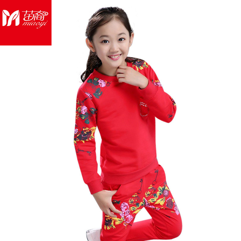 Girl  Tracksuits Suit Sports Suit For Girls sets Autumn Cotton Long Sleeve Girls Outerwear Child Clothes Clothing Sets For Girls<br>