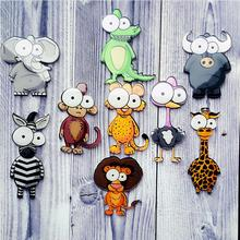 New Sale Cartoon Cute Animals Acrylic Brooch Badges Decoration Pin On Backpack Clothing Decorative Monkey Brooches For Women(China)