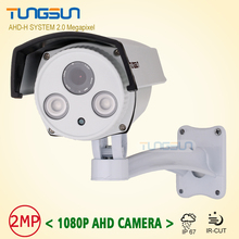 New Product HD AHD 1080P IMX322 Outdoor Video Surveillance 2led Array infrared Security Technology 2MP CCTV Camera With Bracket
