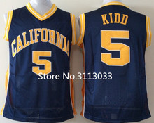 Vintage Jason Kidd California Golden Bears College Basketball Jersey All Size Embroidery Stitched(China)