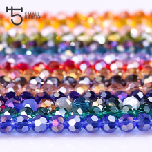 4mm Czech Faceted Crystal Football Beads ab Color Glass Round Crafts Beads for Jewelry Making 100pcs Lot Wholesale Z173(China)