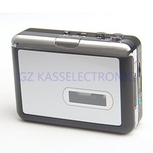 2017 New Portable USB Cassette Player recorder in SD TF Card, Auto reverse playback headphones Free shipping(China)