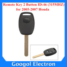 2005-2007 For Honda Remote Key 2 Button and Chip Separate ID:46 (315MHZ) Free Shipping
