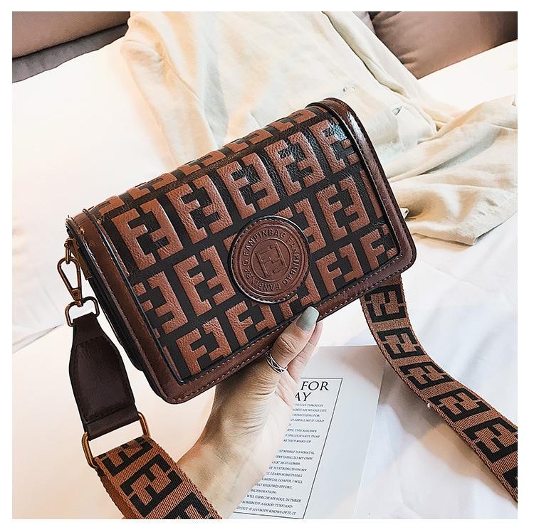2019 Of The Small Square Fashion Women's vintage Shoulder Bag Shoulder Bag Messenger Bag Mobile Phone Bag Brand original design 18 Online shopping Bangladesh