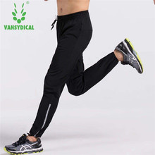 Vansydical Men Running Training Pants Sportswear Sport Trousers Men Jogging Basketball Gym Fitness Pants Sweatpants With Pocket(China)