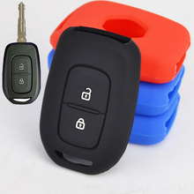 2 Button Silicone Remote Key Fob Case Cover Fit For 2016 2017 Renault Duster Sandero Kwid Logan Clio Captur Laguna Scenic Master(China)