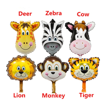 16Inch 6Pcs/Set Animal Printed Foil Balloons Inflatable Air Ballon Birthday Party Decorations Favors  Kids Event Party Supplies