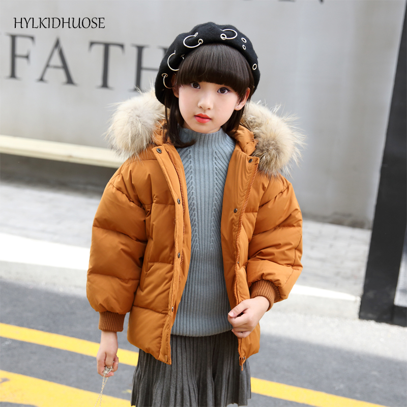 HYLKIDHUOSE 2017 Winter Baby Girls Down Coats Casual Style Children Jackets Outdoor Warm Thick Kids Outerwear Short Down Parkas<br>