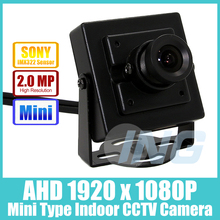Mini Type HD Sony IMX322 1920 x 1080P 2.0MP Indoor AHD Camera  Metal Security Camera CCTV Cam (Free shipping)
