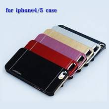 Luxury Hard Aluminum Metal + Soft TPU frame Case for Apple iphone4 4S 5 5S 5SE Phone Accessories Hard Back Cover(China)