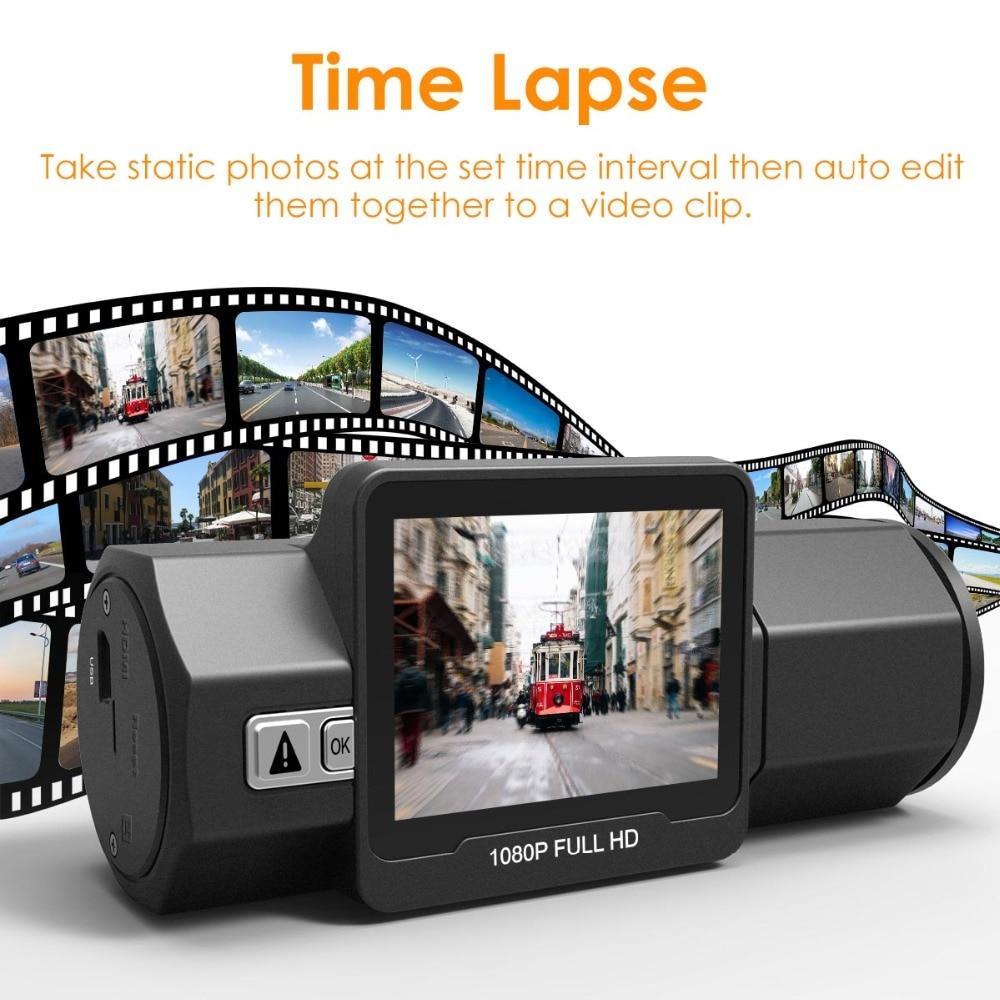 Vantrue T2 Dash Camera NT96655 Video Recorder 160 Degree View Wave Guard Packing Monitor Night Vision G-Sensor Car DVR Camera  (8)