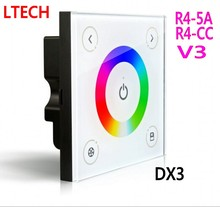 LTECH DX3 DMX RGB Controller Touch Panel Led Dimmer DMX512 2.4G RF V3 Remote R4-5A R4-CC Wireless Receiver Free Shipping(China)