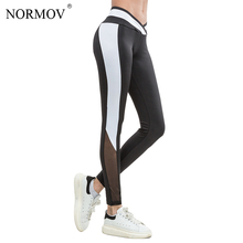Buy NORMOV Sexy Mesh Leggings Women Patchwork High Waist Workout Legging Breathable Black Slim Push Classic Trousers Female for $12.58 in AliExpress store