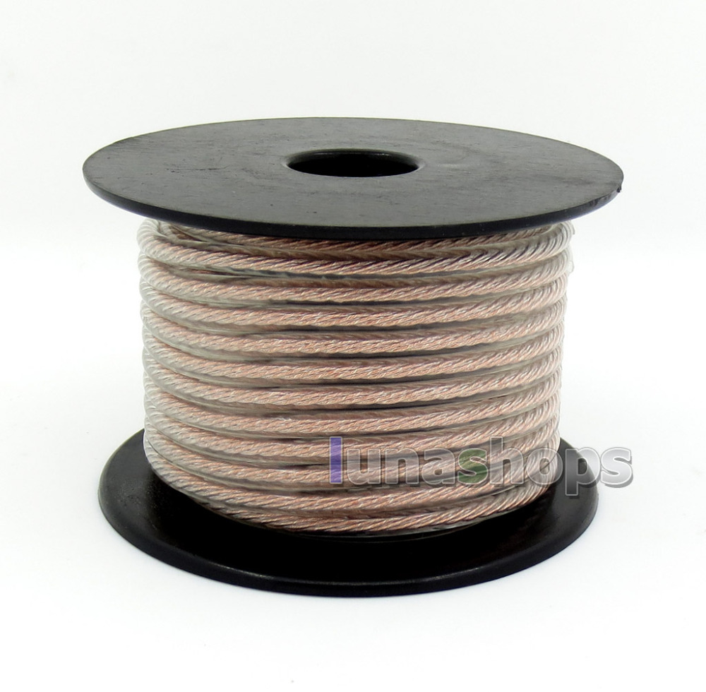 100m Bulk OCC + Silver Plated Mixed Bulk 4 Cores 68pcs Single Wire DIY Earphone Cable Litz cable LN005918