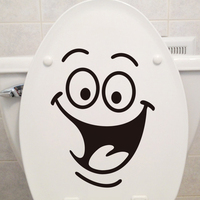 DIY Removable Smile Face Funny Bathroom Toilet Seat Art Wall Sticker Home Decor