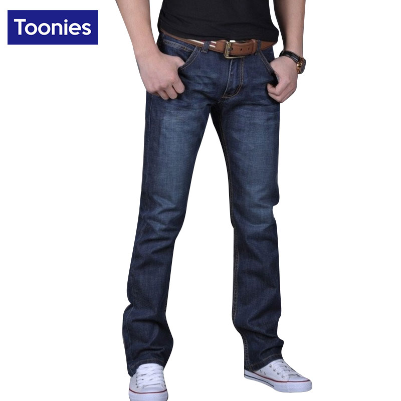 Blue Jeans Men Straight Denim Pants Trousers Plus Size 28-38 Fashion Brand Clothing Full Length Cowboy Pant Homme Free ShippingОдежда и ак�е��уары<br><br><br>Aliexpress