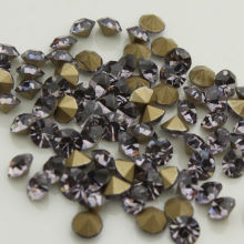 ss4 to ss25  1440pcs/bag black diamond glass Point Back Rhinestones Glass Chaton  Stones for Garment Accessories