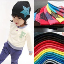 Baby Beanie Spring Autumn Girl Boy Hat Stars Printing Cap Kids Soft Cotton   bonnet enfant for 1-4 year old children cap