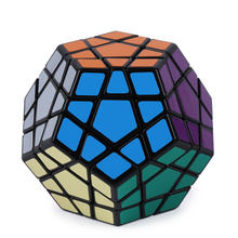 Shengshou Megaminx Magic Cubes 12 Sides PVC Sticker Dodecahedron Toy Square Cubo Puzzle Twist Educational Toys For Children Gift(China)