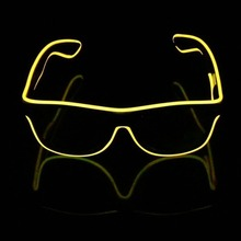 Led Strip Lamp El Wire Glasses Crystal clear frame flash sunglasses DJ Bright Light Safety Light Up led flashing EL glasses(China)