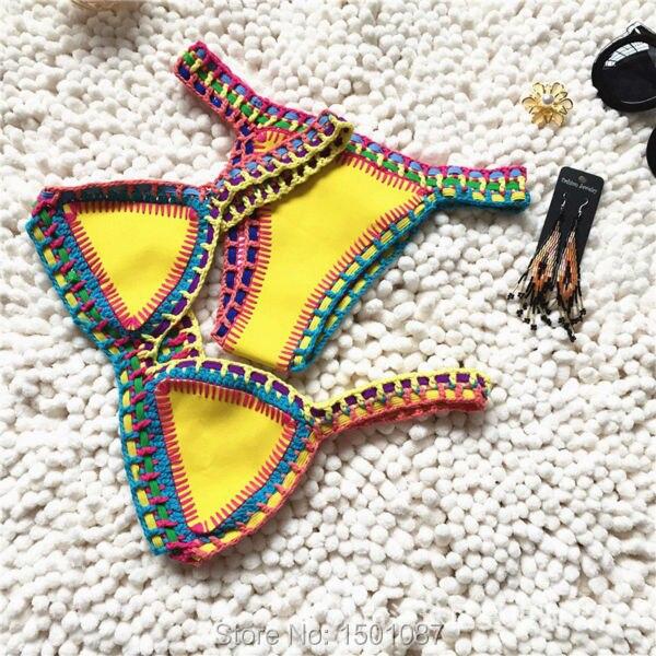 New Arrival  Women Sexy Swimwear Bikinis Set Girl Beachwear Two-Piece Push Up Swimsuit Hand Made Bodysuit Leotard  Monokinis<br><br>Aliexpress