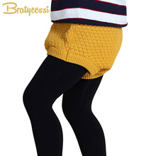 Fashion Knitted Baby Shorts All Match Infant Girls Boys Shorts Autumn Spring Baby Bloomers for 1-3 Years(China)
