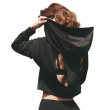 Women Back Hallow Out Sports Hoodie Hot Fitness And Running Hooded Jacket Hot Yoga Wear Sportswear Sports Jacket Blazer