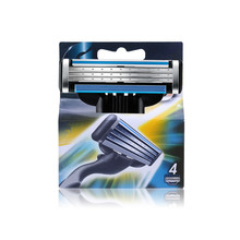 Promotion 4pcs/lot High Quality Face Care Razor Blade For Men Standard for RU&Euro&US M3 Blades Shaving