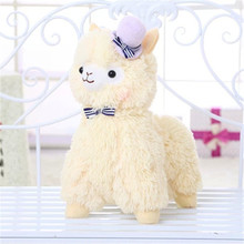 35CM 2016 One Piece Plush Toy Soft PP Cotton Stuffed Doll High Quality Sheep With Bow Super Cute Kids Toys Friends Gift 2 Colors