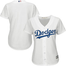 MLB Women's Los Angeles Dodgers White Blue Grey Home Cool Base Jersey(China)