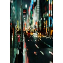Custom vinyl cloth New York city night road photography backdrops for wedding model photo studio portrait backgrounds CM-5980