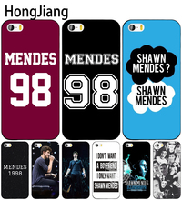 HongJiang shawn mendes 98 cell phone Cover case for iphone 6 4 4s 5 5s SE 5c 6 6s 7 8 plus case for iphone 7 X(China)