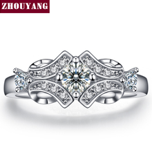 Buy Silver Color Luxury Bijoux Fashion Wedding & Engagement Ring Made Cubic Zirconia Jewelry Women Wholesale R522 for $1.69 in AliExpress store