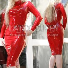 Buy sexy soft natural latex close-fitting dresses costume