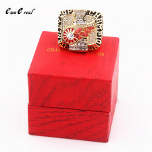 Manufacturer direct sales 1998 Detroit Red Wing Stanley Cup hockey reproduction championship ring and ring wooden box