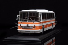 Diecast Bus Model Soviet Union Russian LAZ-699R 1:43 (White/Orange) + SMALL GIFT!!
