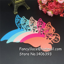 60pcs Laser Cut Paper 60pcs Flower Butterfly Craft Paper Hang Tag Wedding Party Label Price Gift Cards Wish Decoration Bookmark