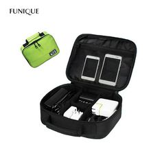 FUNIQUE Portable Camera Storage Bags Digital Accessories Package Computer Bag Power USB Data Cable Storage Box For Men Women(China)
