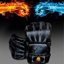 HOT SELLER!!  High Quality New MMA UFC Sparring Grappling Fight Boxing Punch Ultimate Mitts Leather Boxing Gloves