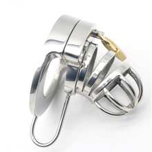 Buy Happygo,Double Lock Stainless Steel Male Chastity Device,Cock Cage,Virginity Penis Lock,Cock Ring,Chastity Belt,Adult Game,A290