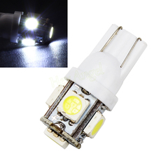 iTimo 10x T10 194 168 W5W 360 Degree Wedge 5050 5 SMD LED Bulb XENON WHITE Car Tail light HA10686