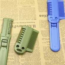 1pc Color Random Multi-function Trimmer Comb Thinning Trimmer Professional Hair Razor Comb Hair Shaver Home DIY Cut Tools