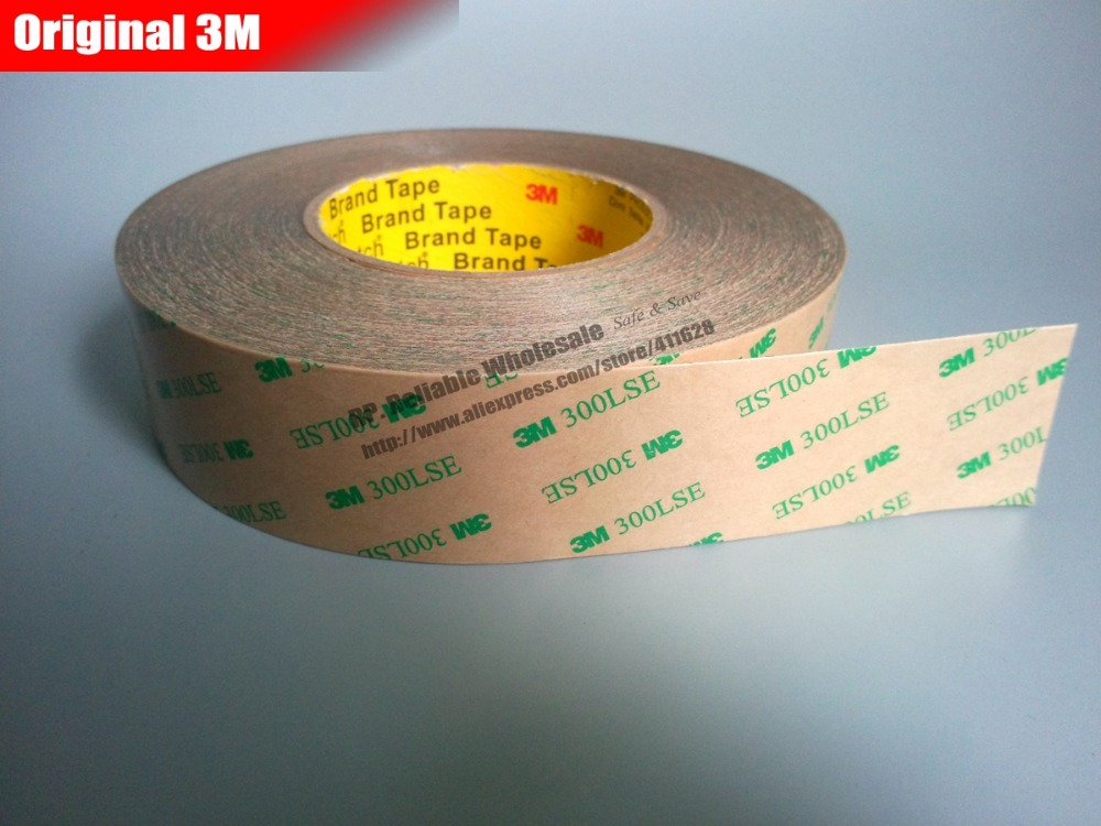 1x 24mm or (25mm/26mm) * 55meters Ultra Strong 3M 300LSE Double Coated Adhesive Tape, Waterproof for Touch Panel, Screen, Frame<br>