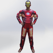 VASHEJIANG Iron Man 3 Patriot Muscle Adult Superhero Halloween Costume For men Fantasy Fancy Dress Avengers Superhero Costumes