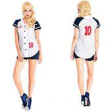 Sexy Fantasias Femininas Deguisement Adultes Cosplay Table Tennis Players Costumes Sexy Baseball Uniform Stage Costumes CE245