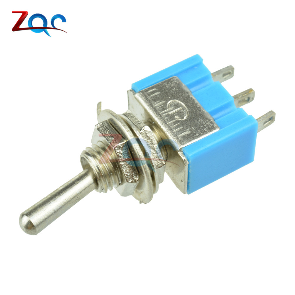 6A 250AC Mini Blue 3 Pins SPDT On-On Toggle Switch Car Dashboard Boat Waterproof