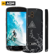 Original AGM X1 IP68 Waterproof 64GB ROM 4GB RAM 5400mAh Dual camera Qualcomm Octa Core Rugged smartphone OTG NFC Fingerprint(China)