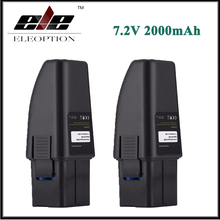 2x Eleoption High Capacity 7.2V 2000mAh Black Vacuum Battery Fits For Ontel Swivel Sweeper G1 & G2 Compare to Part RU-RBG