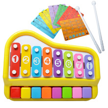EFHH Children beat piano 1-3years Early childhood Educational Hand Knock Toy Piano